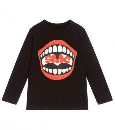 Stella McCartney Girls Black Graphic T-Shirt