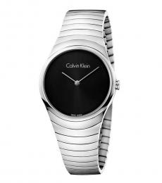 Calvin Klein Silver Black Dial Modish Watch