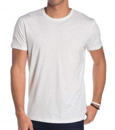 White Geo Wave Short Sleeve T-Shirt