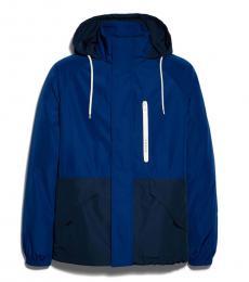 Coach Sapphire Navy Rain Windbreaker Jacket