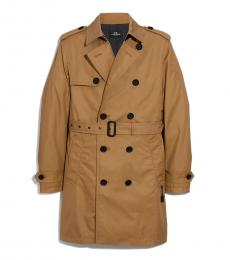 Khaki Classic Solid Trench Coat