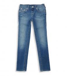 Little Girls Blue Freckle Wash Jeans