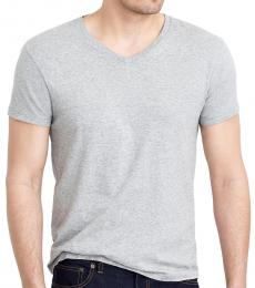 J.Crew Grey Washed Jersey V-Neck T-Shirt