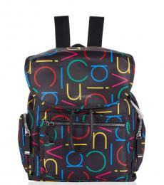 Calvin Klein Black Multi Kimberly Medium Backpack