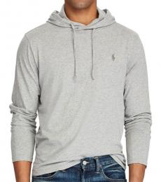 Ralph Lauren Grey Jersey Hooded T-Shirt