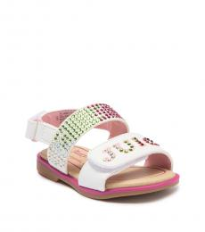 Juicy Couture Baby Girls White Pink Ontario Sandals
