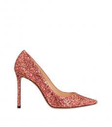 Jimmy Choo Red Romy Glitter Heels