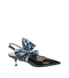 Black Patent Slingback Heels