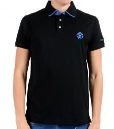 Roberto Cavalli Black Short Sleeve Polo