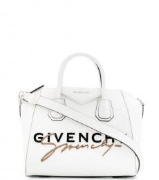 Givenchy White Antigona Small Satchel