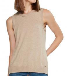 Calvin Klein Beige Hardware Sweater Vest