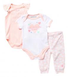 Calvin Klein 3 Piece Bodysuits/Leggings Set (Baby Girls)
