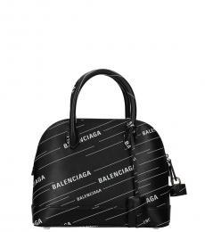 Balenciaga Black Logo Small Satchel