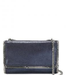 Stella McCartney Blue Falabella Medium Shoulder Bag
