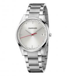 Calvin Klein Silver Logo Watch