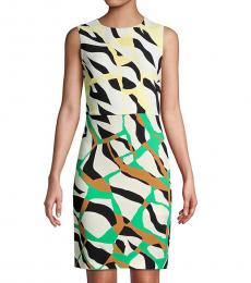 Roberto Cavalli Aragon Terrace Printed Sheath Dress
