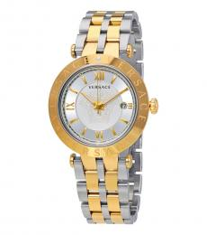 Versace Yellow Gold-Silver V-Race Watch