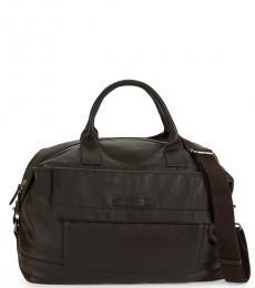 Cole Haan Java Pebbled Leather Large Weekender Bag