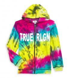 True Religion Boys Multicolor Tie-Dye Hoodie