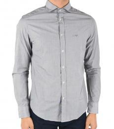 Armani Jeans Light Grey Cotton Popeline Shirt