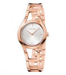 Calvin Klein Rose Gold Class Silver Dial Watch