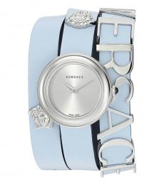 Versace Light Blue Logo Watch