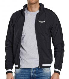 Moschino Black Front Logo Jacket