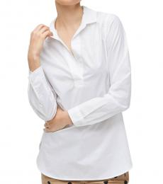 White High-Low Popover Tunic Shirt
