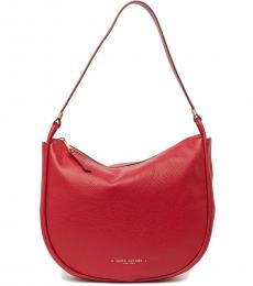 Marc Jacobs Cranberry Solid Large Hobo