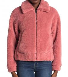 Lucky Brand Pink Faux Shearling Jacket