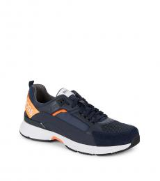 Hugo Boss Navy Velocity Running Sneakers