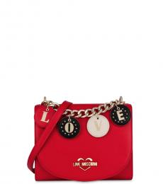 Love Moschino Red Love Charm Small Crossbody
