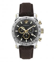 Versace Brown Chrono Watch