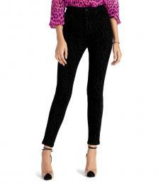 Rachel Roy Black Velvet Skinny Jeans