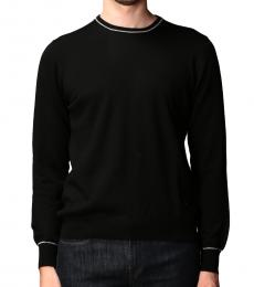 Fay Black Elbow Patches Sweater