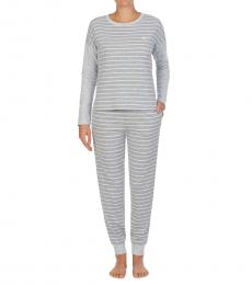 Ralph Lauren Grey Striped Pajamas Set