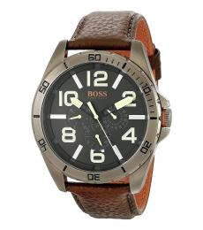 Hugo Boss Brown Berlin Leather Strap Watch