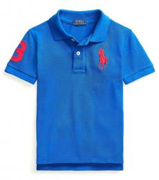 Ralph Lauren Little Boys Sapphire Star Big Pony Mesh Polo