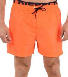 Diesel Orange Drawstring Wave Swimswear