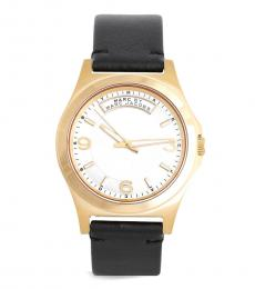 Marc Jacobs Black Dave Gold Dial Watch