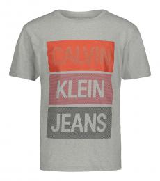 Calvin Klein Boys Grey Mesh Box T-Shirt