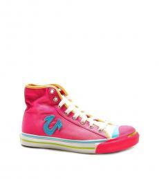 True Religion Fuschia Aqua Conner High Top Sneakers