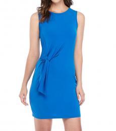 Michael Kors Royal Blue Twist-Front Matte-Jersey Dress