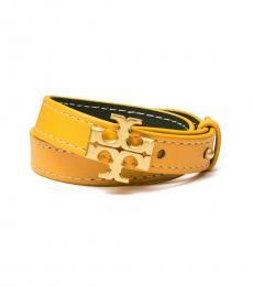 Tory Burch Everest-Golden Crest Double-Wrap Bracelet