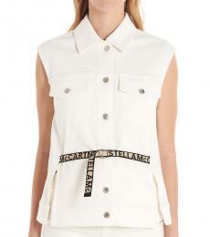 White Logo Belt Vest