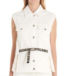 Stella McCartney White Logo Belt Vest