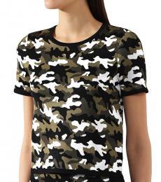 Michael Kors Black Camouflage Jacquard T-Shirt