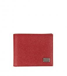 Dolce & Gabbana Red Logo Wallet