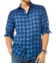 Marine Blue Slim-Fit Shirt