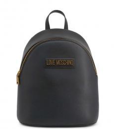 Love Moschino Black Solid Medium Backpack